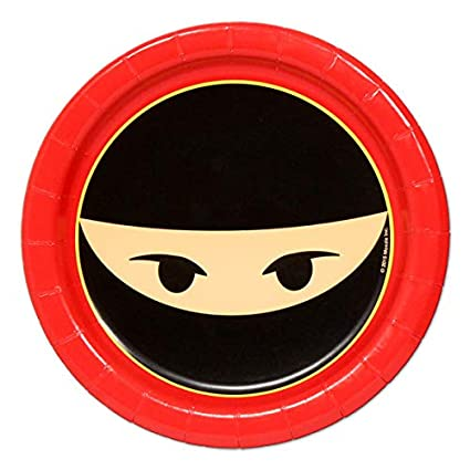 Amazon.com: Ninja Party Dessert Plates (8): Toys & Games