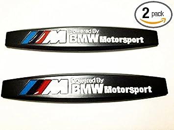 2Pcs M Performance badge Car Front Bumper Emblem Sticker BMW Universal Decal