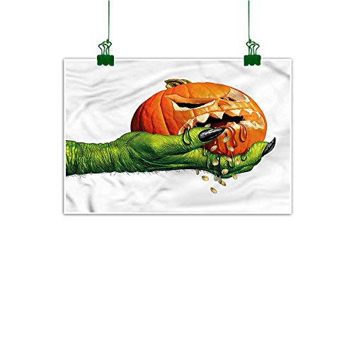 duommhome Wall Art Stickers Hand Painted Pumpkin Hand Painted Scary Halloween Monster 20
