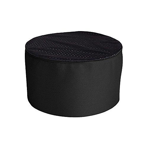 KNG Chefs Mesh Top Skull Cap, Black