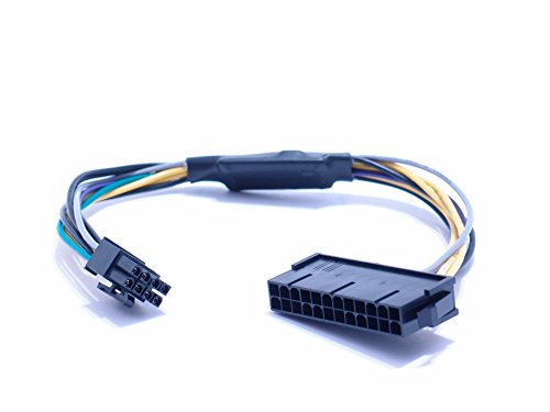 Must Have Gadgets 24 pin to 8 pin ATX Power Supply Adapter Cable for DELL Optiplex 3020 7020 9020 Precision T1700