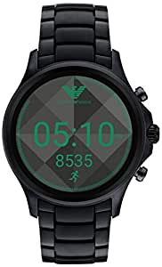 Emporio Armani Men's Digital Watch smart Display and Stainless Steel Strap, ART5002