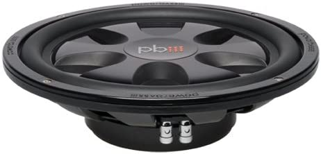 Powerbass S12T 12-Inch Single 4 Ohm Thin Subwoofer