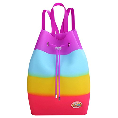 School Multi Occasional HAPPY Clean Fruit Waterproof Easy Pastille Bag Silicone Tutti Frutti Bag Girls Scented RAINBOW Coloured Backpack wx0CwHvq