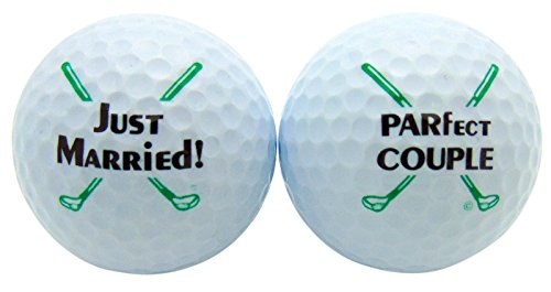 Just Married Newleywed Golf Balls Gift Boxed Two Ball Set by Westman Works
