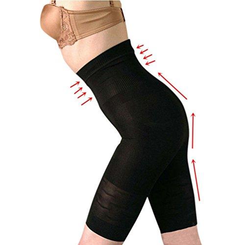 Zarbrina Seamless High Waist Tummy Control Panties Bodyshorts Body Shaper Thigh Slimmer Shapewear for (Shiny Thigh Slimmer)