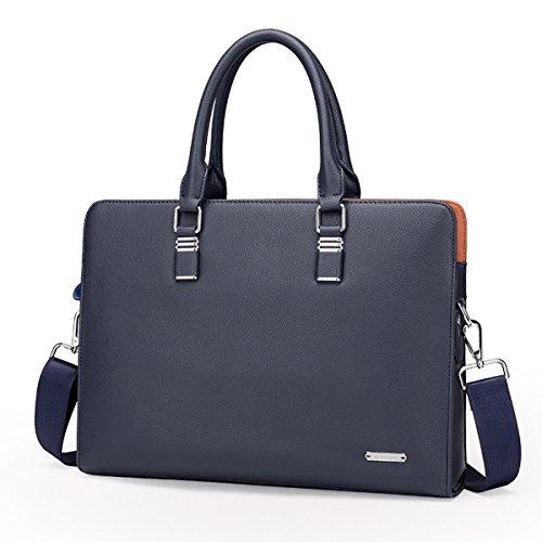 YUHUA08 2 trends Leather Black YUHUA QISHI Cowhide Business Men blue 1 handbag Fashion Genuine QISHI qnSCPWvBg