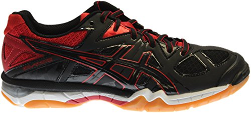 ASICS Women's Gel Tactic Volleyball Shoe, Black/Black/Fiery Red, 8.5 M US by ASICS (Image #1)