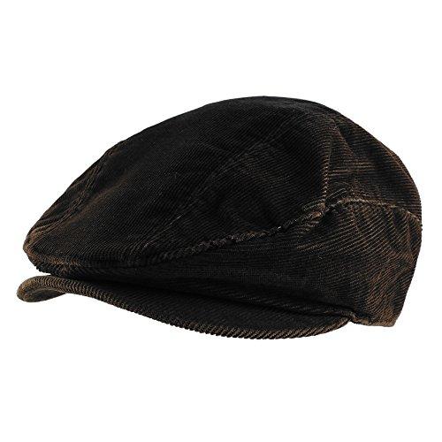 Morehats Corduroy Newsboy Cabbie Cap with Belt Irish Hunting Golf Driving Gatsby Hat - (Corduroy Newsboy)