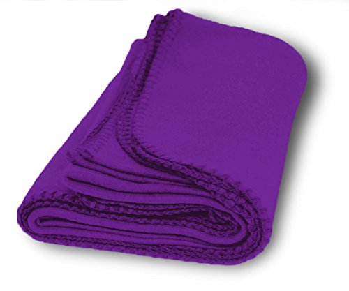 US Quality Super Soft Cozy Fleece Throw Blankets For Beds, Travel, House and Pets (Plum) (Blanket Plum Fleece)
