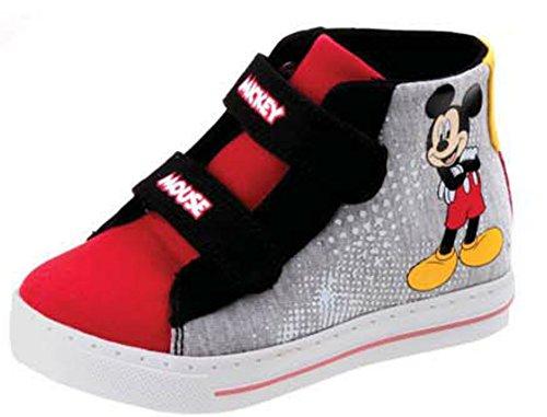 Disney Mickey Mouse Canvas Hi Top Sneaker Shoe Toddler/Little Kid