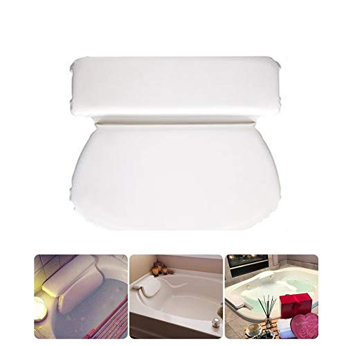 Bath Pillows - 31x36cm Non Slip Pu Durable Fold Bath Pillow Bathtub Spa Head Rest Neck Shoulder Relax Support - Bath Back Jacuzzi Neck Inflatable Support Reading Oval Pillows Kids Shower Baby Re