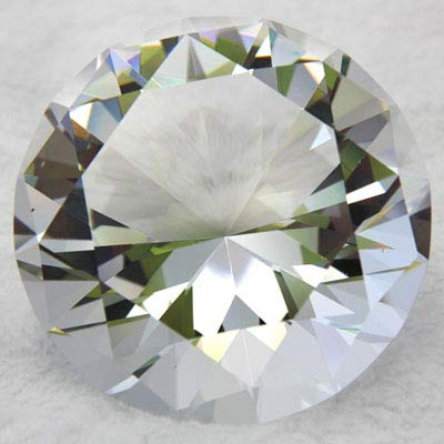 jkk sale Sparkling Crystal Diamond Shaped Paperweight (4'inch)