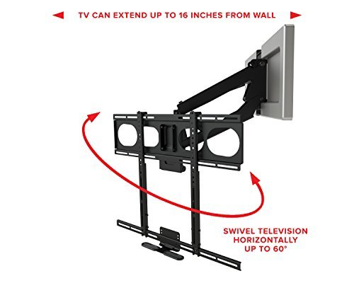 Mantelmount mm540 pull down tv mount above fireplace for - Pull down tv mount over fireplace ...
