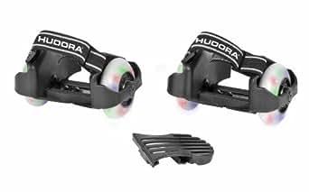 Hudora 22007 Bold Buddy's - Ruedas para colocar en los zapatos, color blanco y negro