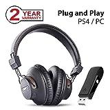 Avantree DG59 Plug & Play Wireless PS4 Gaming Headphones with Bluetooth USB Audio