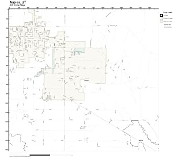 Amazon Com Zip Code Wall Map Of Naples Ut Zip Code Map Laminated