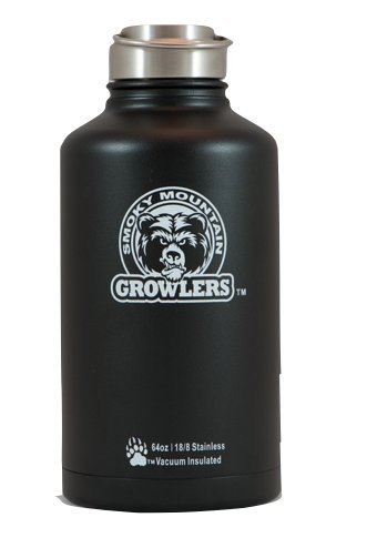 Smoky Mountain Growlers Stainless Steel Water Bottle Growler All In One 64 ounce