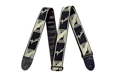 Fender USA Monogrammed Strap (Black/cream)
