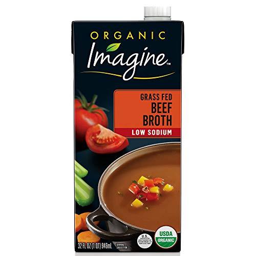 - Imagine Organic Low-Sodium Grass Fed Beef Broth, 32 oz.