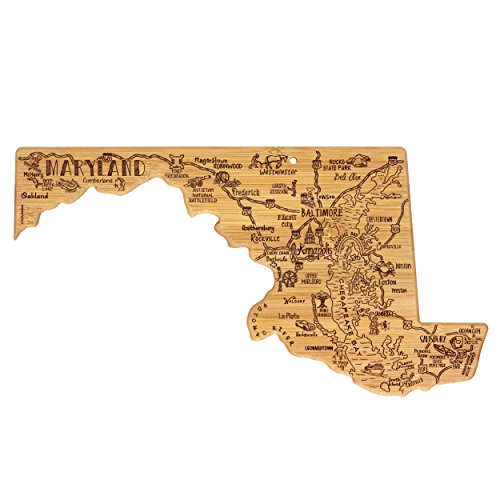 Totally Bamboo Maryland State Destination Bamboo Serving and Cutting Board