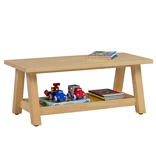 ECR4Kids Sit n' Stash Solid Hardwood Bench with Storage for Kids Playroom