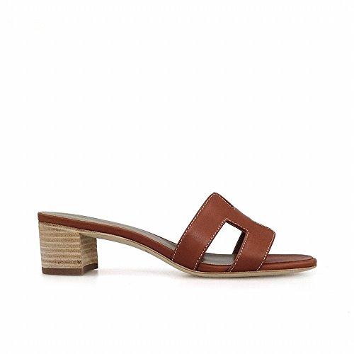 chic un H vere di Marrone scarpe Spessa heels con sandali con pantofole paio da 36 High spiaggia xw0pHTqOnx