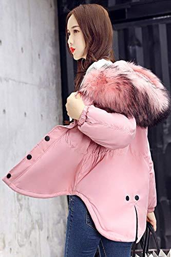 Colore Cappotto Trapuntata Donna Pink Forti In Giacche Piumini Fashion Chiusura Invernali Giovane Taglie A Casual Autunno Puro Cerniera Lunga Vintage Pelliccia Sintetica Manica Giacca Collo rv8qXgwS8n