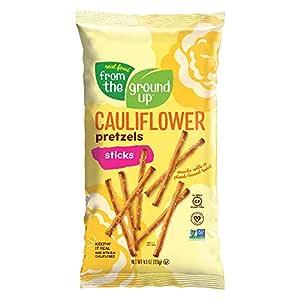Real Food From The Ground Up Vegan Pretzels, Gluten Free, Non-GMO, 6 Pack (Cauliflower, Sticks)