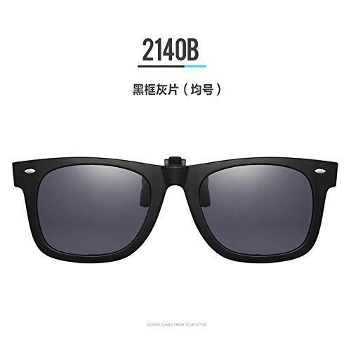 Gray Sheet Number Mean de de gafas marea espejo gris negro gafas sol grande placa sandwich sol clip Gafas de Frame masculina de KOMNY el Black cine Encajar polarizante marco qfFF4w