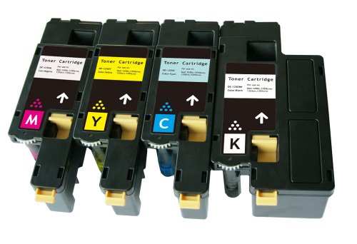 Dell 1250c 1350cnw 1355cn High Yield Value Pack Toner Cartridges(BLACK,CYAN,YELLOW,MAGENTA), Office Central
