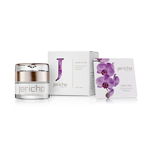 Jericho Cosmetics - Eye Cream Gel for Dark Circles, Puffy Eyes and Under Eye Wrinkles - Contains Anti Aging Agents: Minerals from the Dead Sea, Olive Oil & plant extracts