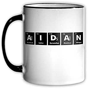 AIDAN Periodic Table Coffee & Tea Mug with Chemical Symbols for a Science Nerd or Geek Funny Office Gift