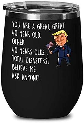 Trump copa de vino para 40 cumpleaños - 40 grandes regalos ...