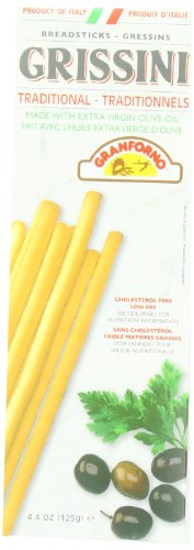 Granforno Grissini Breadsticks, Traditional, 4.4-Ounce Boxes (Pack of 12)