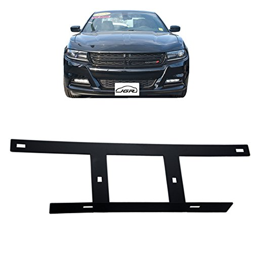 JGR No Drill Required Front License Plate Mounting Bracket Relocator For 2015-up Dodge Charger