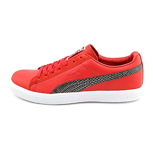 Puma Mens Clyde X Undftd Snakeskin Ribbon Red Athletic Sneakers 6.5 D US