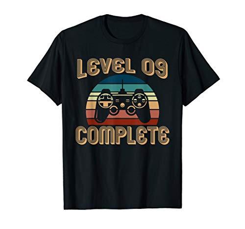 Level 9 Complete Vintage T-Shirt Celebrate 9th Wedding Gift