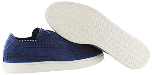 Turnschuhe Courtside Peacoat Perforierte Court Puma Suede 8gvwq1Fntx