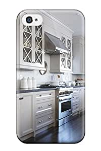 Ideal Renee Cook Case Cover For Iphone 4/4s(white Kitchen With Hardwood Floors And Stainless Steel Stove), Protective Stylish Case Sending Screen Protector in Free