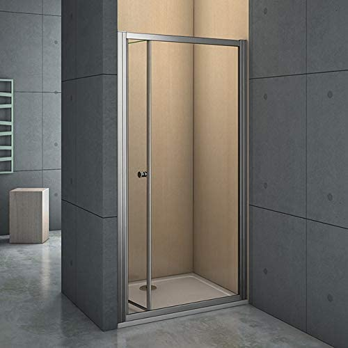 Mamparas Puerta Abatible Pantalla de Ducha 5mm cristal para 76x190cm: Amazon.es: Bricolaje y herramientas
