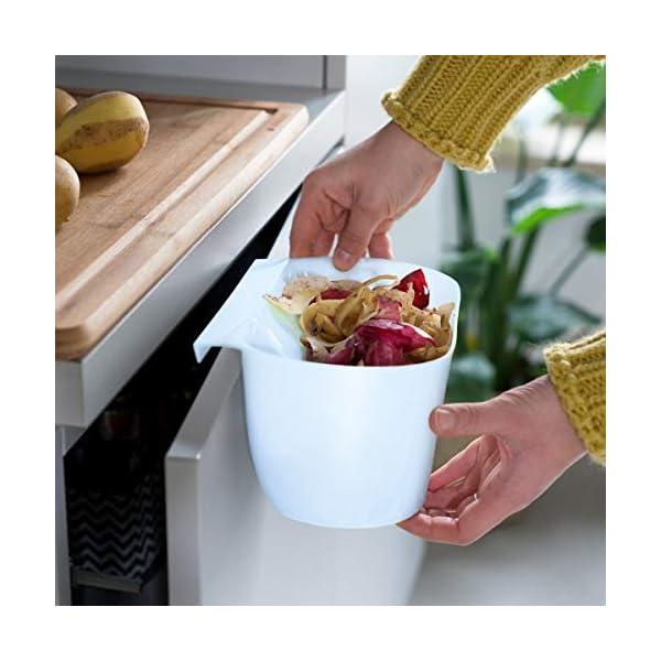 41%2BcnGJEKeL Navaris 2x Auffangschale für Küchenabfälle zum Einhängen - 2er Set Mülleimer Abfall Behälter für Bio Müll - Abfalleimer…