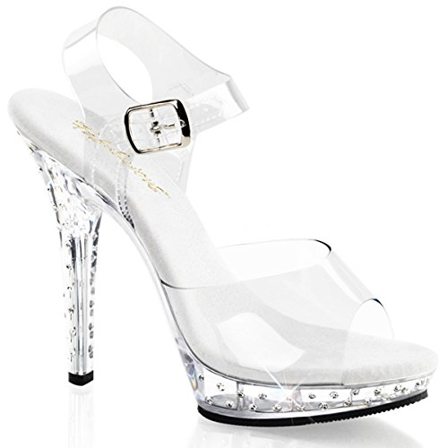 Heels-Perfect - Sandalias de vestir de material sintético para mujer transparente - Transparent (transparent)