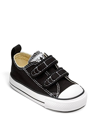 All Star Hi Toddler Shoe - Converse Boys' Chuck Taylor All Star 2V Low Top Sneaker, Black, 8 M US Toddler