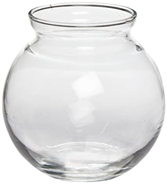 Anchor Hocking 3354K 4 Inch Diameter x 3-7/8 Inch Height, Crystal Color, Round Ivy Ball (Case of 12)