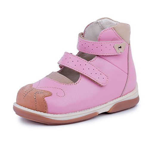 Memo Princessa 3JB Pink corrective Ankle Support Leather Mary Jane, 28 M EU/11 M US Little Girl by Memo