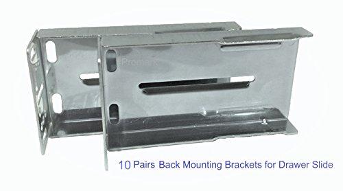 Promark Rear Mounting Brackets for Drawer Slides - 10 Pair Pack (Slide Drawer Mounting)