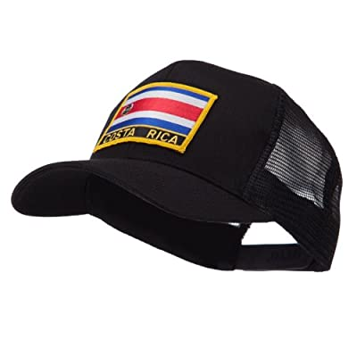 North and South America Flag Letter Patched Mesh Cap - Costa Rica W42S52F