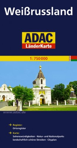 Belarus 1:750,000 Travel Map ADAC, 2011 edition