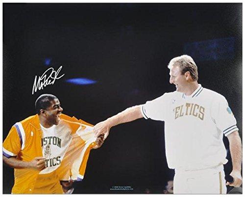 Jersey Retirement Night 16x20 Photo (Magic Johnson Los Angeles Lakers Autographed 16